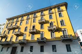 100 House In Milan Historic Yellow House In Lombardy Italy In Liberty Style