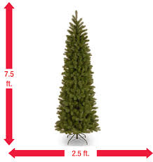 Downswept Slim Christmas Tree by 7 Ft Feel Real Downswept Douglas Slim Artificial Christmas Tree