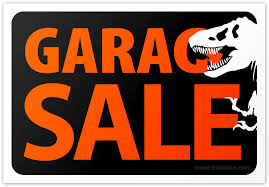 Jurassic Garage Sale Sign