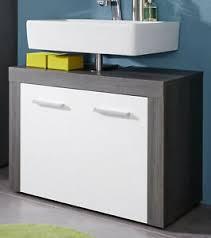 details zu waschbecken unterschrank weiß und grau waschtisch 70 cm bad möbel schrank miami