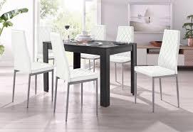my home essgruppe set 5 tlg 4 stühle mit tisch in schieferfarben breite 120 cm kaufen otto