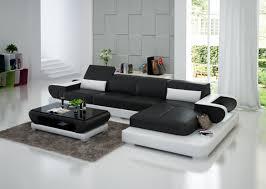 canapé noir et blanc canapé d angle avec éclairage en cuir pas cher