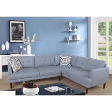 100 2 Sofa Living Room Gray Flint Plaid Sectional Set Piece