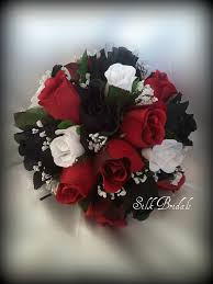 Beautiful Red And Black Wedding Bouquets Contemporary Styles