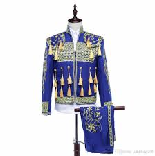 fashion 2017 men retro palace suit male formal dress royal loading