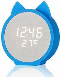 gsodc led digital wecker holz tischuhr datum feuchtigkeit temperatur standuhr dekoration alarm für kinder schlafzimmer zuhause büro