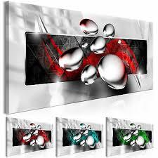 wandbilder abstrakt wie gemalt silber grau leinwand bild