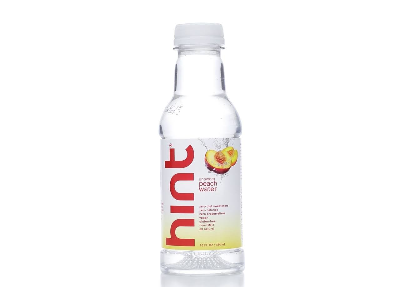 Hint Unsweet Peach Water - 16oz