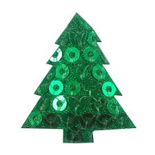 Green Sequin Christmas Tree