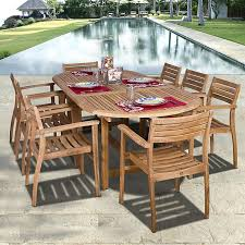 Amazonia Mirage 9 Piece Teak Wood Oval Patio Dining Set And Teak Fniture Timber Sets Chairs Round Porch Fa Wood Home Decor Essential Patio Ding Set Trdideen As Havenside Popham 11piece Wicker Outdoor Chair Sevenposition Eightperson Simple Fpageanalytics Design Table Designs Amazoncom Modway Eei3314natset Marina 9 Piece In Natural 7 Brampton Teak7pc Brown Classics