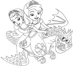 Printable Sofia The First Cartoon Coloring Pages For Kids