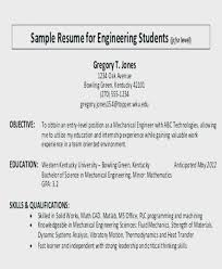 Career Objective Resume Full Objectives Example Sample In For Engineering Student Culinary Accounting