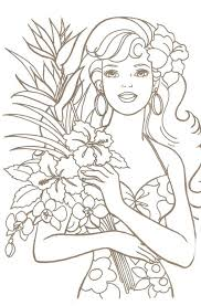 Barbie Doll Coloring Sheets Free Printable Pages Books Palace