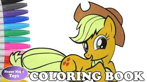 Applejack Coloring Book Page MLP My Little Pony For Kids Art