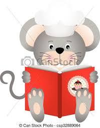 souris cuisine lecture souris livre cuisine représenter livre cuisine clip