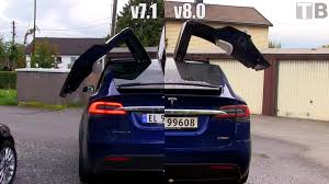 Tesla v8 0 update makes Model X s rear doors open and close faster