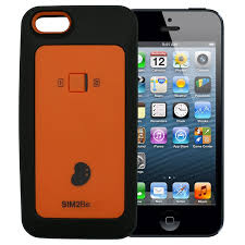 SIM2Be Case 5 iPhone 5 iPhone 5S Dual SIM case adapter