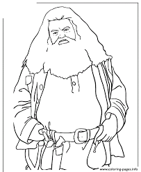 Half Giant Rubeus Hagrid From Harry Potter Movie Coloring Pages