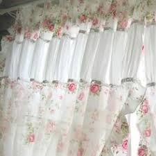 Simply Shabby Chic Curtains White by Shabby Chic Blue Rose Curtain Blue Roses Shabby And Rose