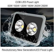 cob led flood light 50w 100w 120w 160w 200w 250w ip67 led outdoor