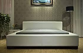 amazon com greatime b1142 eastern king white modern platform bed