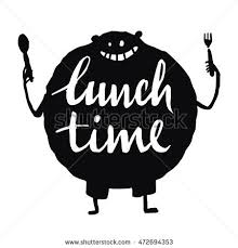 Lunch Time Lettering Stock Vector Royalty Free 472694353