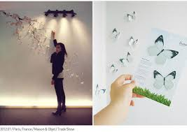 3d Wall Art Blossom White 3D Floral Butterflies Butterfly Wallpaper Stickers DIY Decal