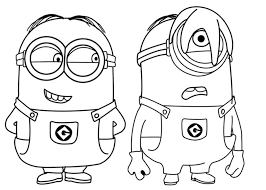 Minions Coloring Pages Dave And Stuart