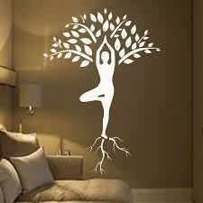 Tree Wall Decals Art Gymnast Decal Yoga Meditation Vinyl Stickers Gym Home Decor Interior Design Murals