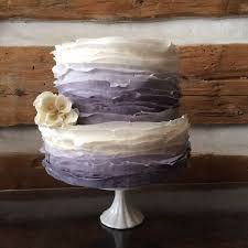 Ombre Grey To Antique White Fondant Ruffles Wedding Cake With Ruffle Rose Accent Perfect For