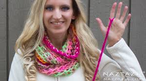 diy tutorial how to finger crochet very easy simple infinity