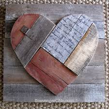 Rustic Pallet Wood Valentines Heart Shabby Chic Day Ideas Wall