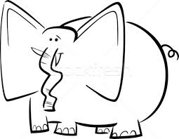 Stock Photo Vector Illustration Cartoon Humorous Of Funny Elephant For Coloring Book