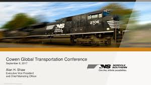 Norfolk Southern (NSC) Presents At Cowen 10th Annual Global ... Roadway Express Pinterest Rigs Cowen Truck Line Inc On Twitter Thanks Guys For Bring The Pictures From Us 30 Updated 322018 First Acs64 Rolling Septa Railway Age Employee Receives Award News Ashland Times Road Work Helping Buckeye Bullet Students Speed Quest Cowentruckline Railcar Demand Net Neutral Survey I80 Iowa Part 14