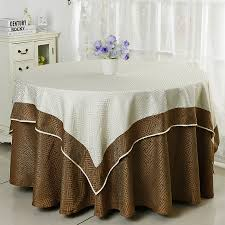 Jacquard Table Cloth Damask Cover For Wedding Tables Decoration Round Underlay With Square Overlay Top In Tablecloths From Home