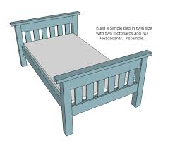 Free Instructions For Bunk Beds by Ana White Twin Over Full Simple Bunk Bed Plans Diy Projects