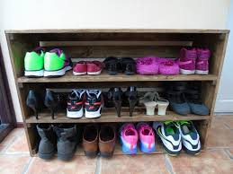 MADE TO ORDER Handmade Rustic Style Shoe Rack Cabinet