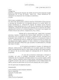 Carta Notarial Formato Word