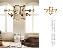 großhandel delightfull botti hängende lichter gold kronleuchter pendelleuchten trompete anhänger 12 16 24 kopf esszimmer wohnzimmer restaurant