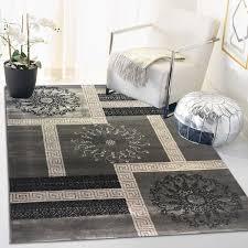 siela teppich wohnzimmer grau kurzflor teppich grauer küchenteppich teppiche für schlafzimmer