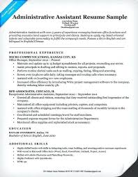 Sample Resume Office Assistant Executive Administrative Example Australia
