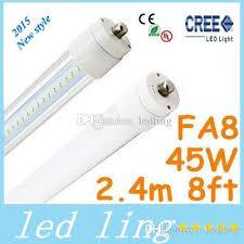 led 45w 8ft t8 led lights single pin fa8 2 4m110 277v