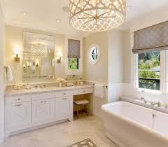 Chandelier Over Bathroom Sink by Bathroom Unique Bathroom Chandeliers Over White Tub Using Wooden