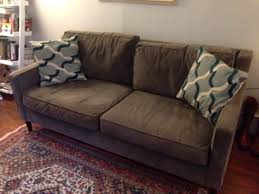 1 yr old west elm paidge sofa in mint condition in alphabet city