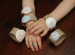 Another Great Use For Toilet Paper Rolls These Watches Make A Way To Introduce The Concept Of Telling Time Your Toddler