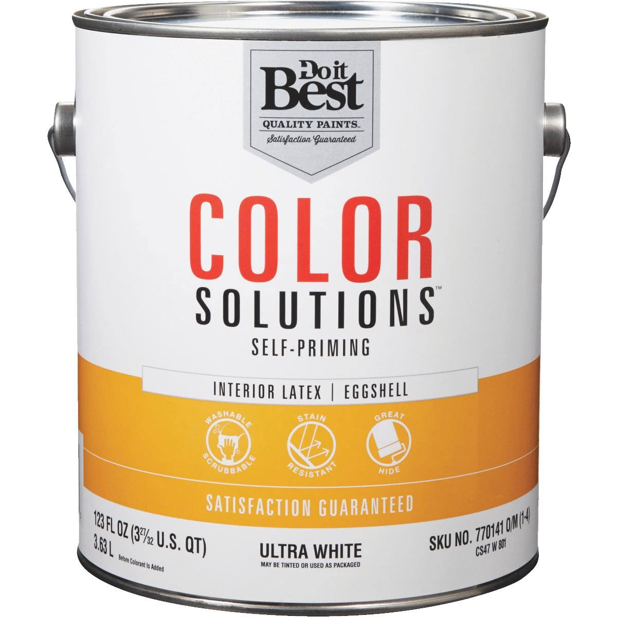 - CS47W0801-16 Do It Best Color Solutions Latex Self-Priming Eggshell Interior Wall Paint