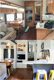 Easy RV Camper Remodel Ideas With Before And After Comparison 6