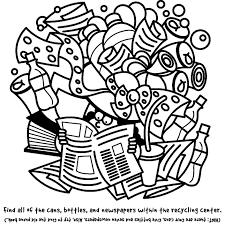 Recycling Search And Find Coloring Page