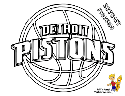 Pistons Detroit Basketball Teams Coloring Pages