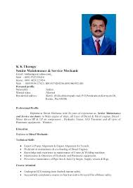 Resume For Diesel Mechanic Samples Automotive Technician Examples Templates Army